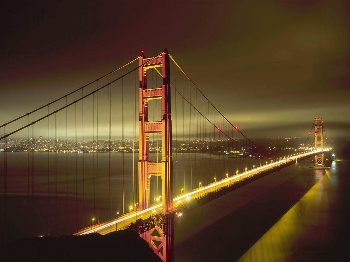 Golden Gate bridge at night Wallpaper and make this wallpaper for your 629