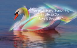 Pamela Leigh Richards » Swan Rainbow Pamela Quote 1615