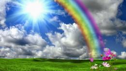 Beautiful Rainbow Shining Sun Nature Hd Wallpapers 338