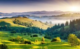 Beautiful green hills wallpaper | Wallpaper Wide HD 1498