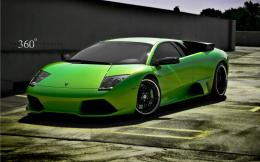 Free Art Tech: Green Lamborghini Wallpaper 1140