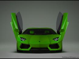 Lime Green Lamborghini Aventador New HD Wallpaper ~ The Wallpaper 1374