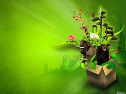 wallpaper green theme 1795