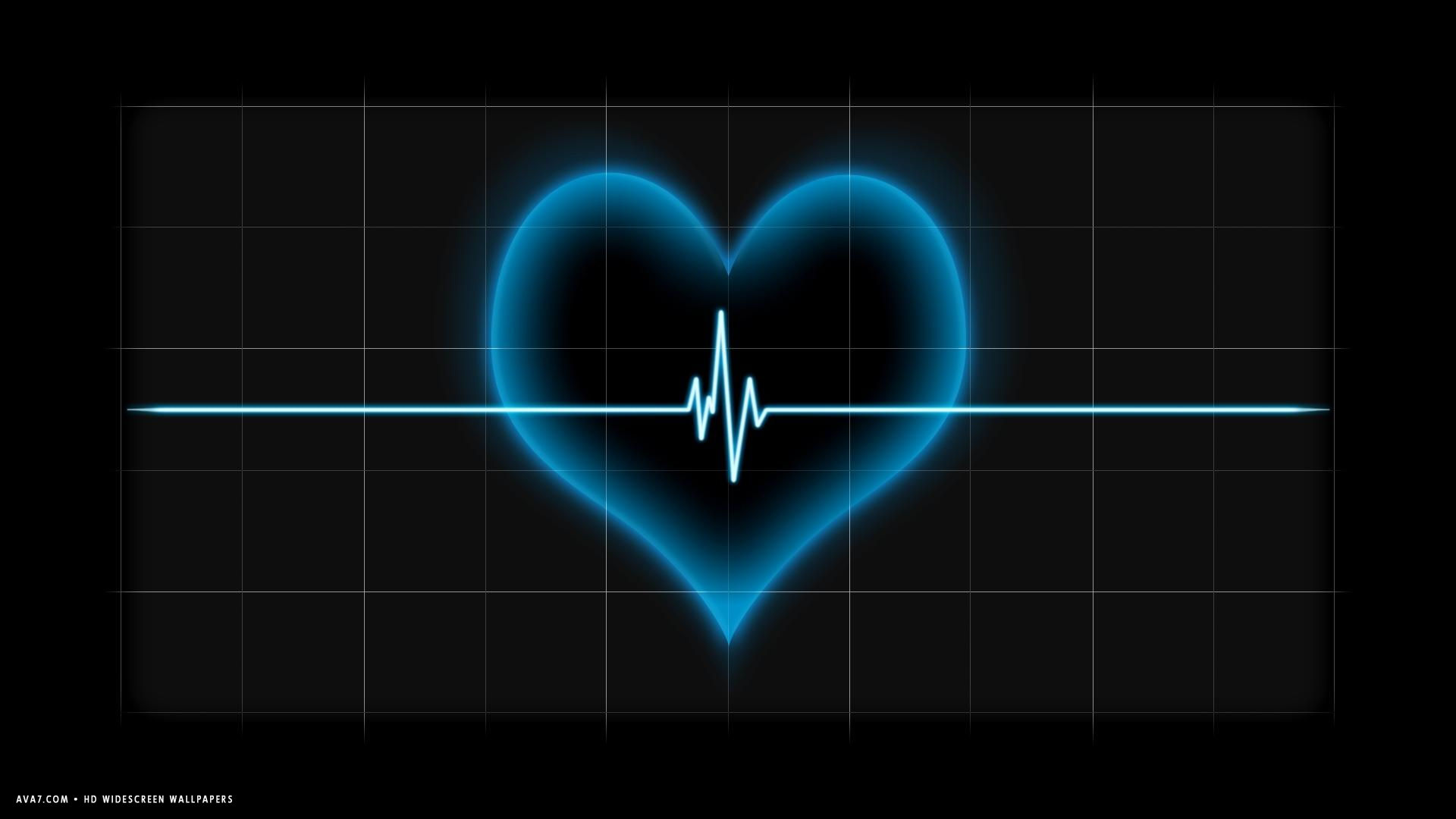 heart beat pulse line blue hd widescreen wallpaperromantic 1539