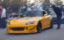 Honda, s2000, tuning, low, stance, jdm, japan, yelow, vtec wallpaper 515