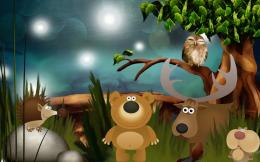 vector cartoon wild animals wallpaper in cartoon anime wallpapers 1352