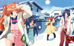 Download Wallpaper girl, winter, snow, game, snowball fight, fun 367