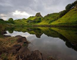 Hills, lake, clouds, reflection wallpapersphotos, pictures 1367