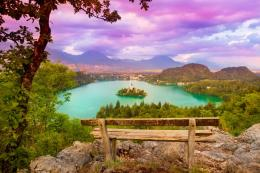 Lake bled slovenia hills sky colors travel HD Wallpaper 1993