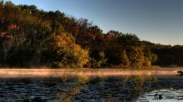 Tinge Of Fall Jensen Lake Lebanon Hills Park Eagan Minnesota wallpaper 1755
