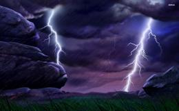 Lightning strikes wallpaperDigital Art wallpapers#21541 550