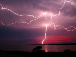 Wow! This is one of the best lightning images I ever seenRed sunset 1373
