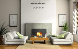 Modern Living Room With Fireplace Design Ideas 871