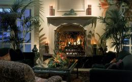 Living Room With Fireplace wallpaper 1063