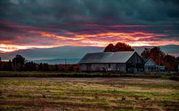 Farm sunset Wallpapers Pictures Photos Images 1213