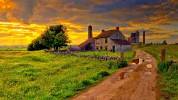 Old Farm After A Storm Hdr Hd Wallpaper | Wallpaper List 348