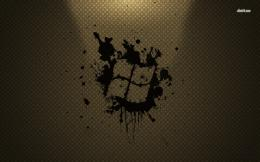 Windows logo on Louis Vuitton pattern wallpaperComputer wallpapers 971