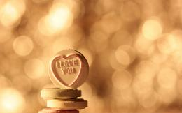 Love Candy Bokeh Heart mood wallpaper background 1737