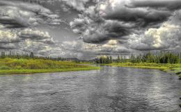 WALLPAPER: CLOUDSSHOWERSMADISON RIVER 1206