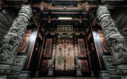 Magnificent entry to an Oriental Temple wallpaper 1609