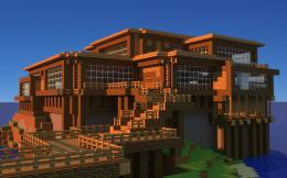 Minecraft Beach House Wallpaper 282