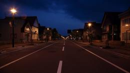Ordinary Town Road At Night Hd Wallpaper | Wallpaper List 1101