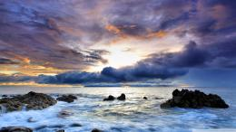 download great sky over rocky shore wallpaper tags shore rocks clouds 978