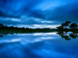 Dusk Skies Over Lake Hd Wallpaper | Wallpaper List 921