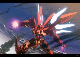 Xenogears Red Sinanju Robot Mecha Anime War hd wallpaper #125222 350