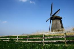 Molen and fence wallpaper 1686