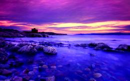 Download Seashore at dusk wallpaper in Nature wallpapers with all 1661