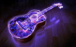 Neon Lights Guitar Wallpapers Pictures Photos Images 968