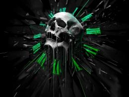 skull wallpaper on background abstract hours of 1600x1200Wallpapers 1678