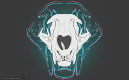 Download wallpaper skull, neon, background free desktop wallpaper in 385