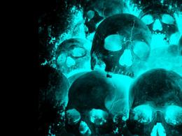 Neon Skulls BackgroundNeon Skulls Wallpaper Free 1326