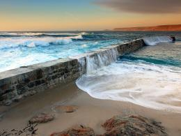 Ocean Waves and Sea Wall wallpaper – Conservatives Count Mendacity 1584