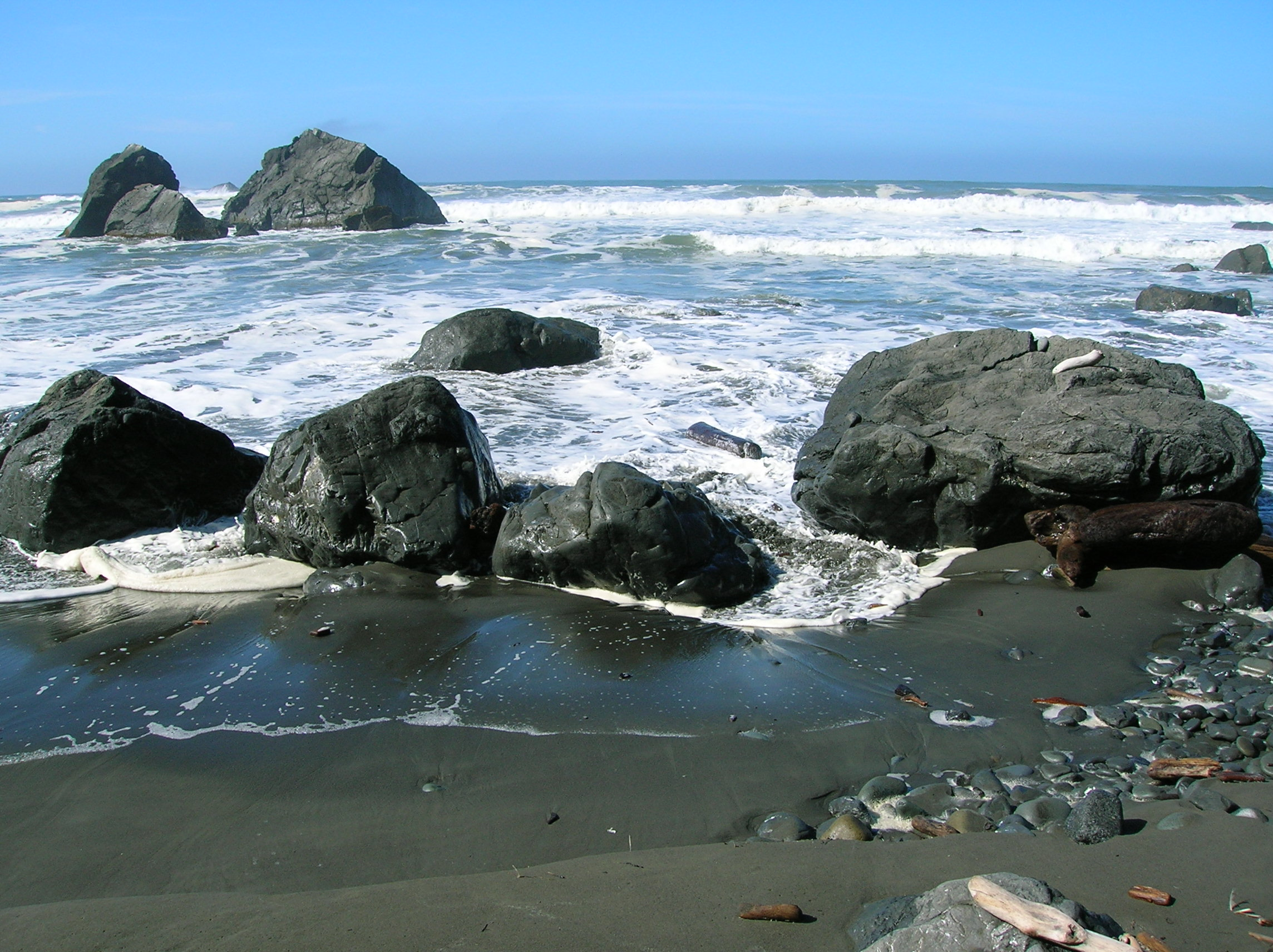 The ocean at the end of the Klamath River as seen from the Costal 1843