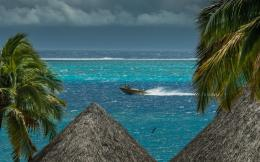 Stormy Sky At Tahiti Hd Wallpaper | Wallpaper List 374