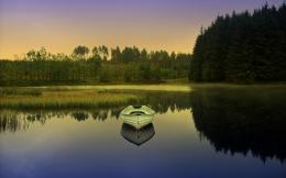 Boat Lake Reflection HD Wallpapers 512