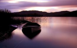 peaceful place boat water lake nature sunset nature photo 894
