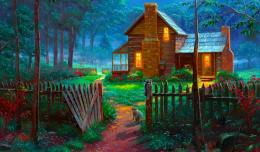 Welcome summer peaceful cottage art pretty 1024x600 201