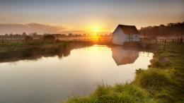 Quiet and Peaceful River Under the Rising Sun, You Should Embrace and 1178