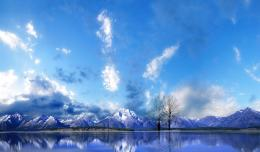 Perfect Reflection Of Snow Mountain On The Peaceful Lake Hd Wallpaper 585