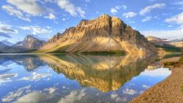 : Perfect Reflection Mountain Lake Clouds Yellow Desktop Wallpapers 1877