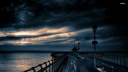 dusk wallpaper 1280x800 Pier at dusk wallpaper 1366x768 Pier at dusk 1705