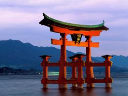 Japanese wallpapers: Japanese wallpapersItsukushima Torii Gate 733