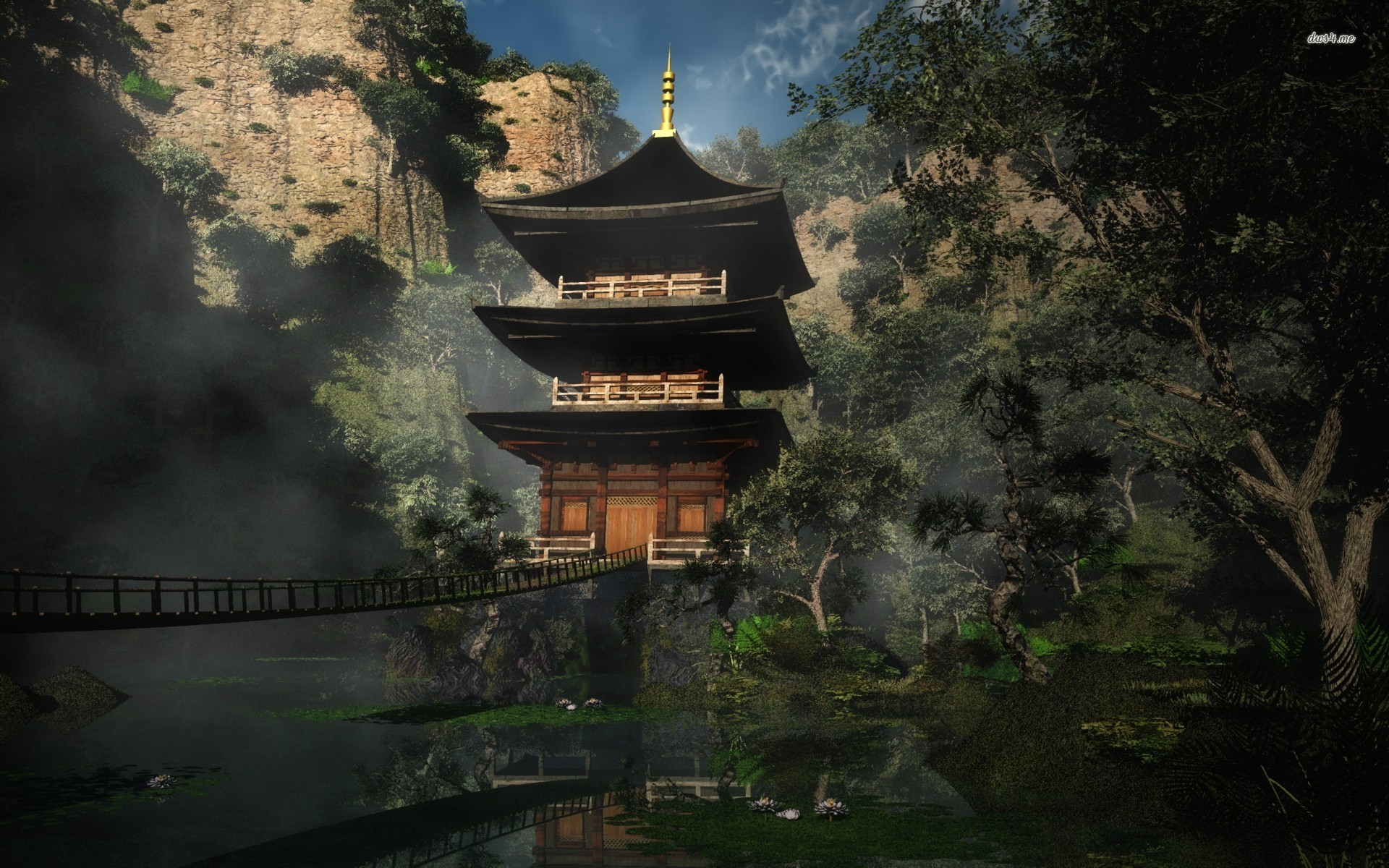 Source : http:1ms net red bridge at japanese temple 301642 html 744