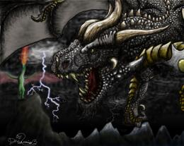 Roaring dark dragon by Dragonio3 on DeviantArt 520