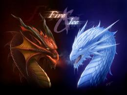 fire+dragon+ice+dragon+head+poster+wallpaper+concept+art+design 610