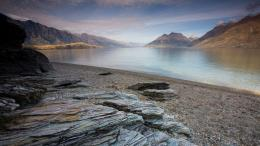 Rock Textures On A Fjord Beach In New Zealand wallpaper 527